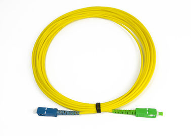SC-SC/ APC Simplex Singlemode Optical Fiber Patch Cord Compliant With ANSI, NTT SC Standard