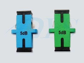 Simplex Module Fiber Optic Attenuator 0.5 dB Green / Blue With Stable Performance