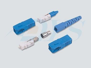 Blue SC / UPC Optical Fiber Connectors PC / UPC / APC Polishing With 9 / 125um Fiber