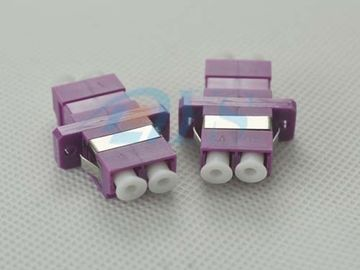 LC Duplex Fiber Optic Adapter Violet Color For Optical Networks