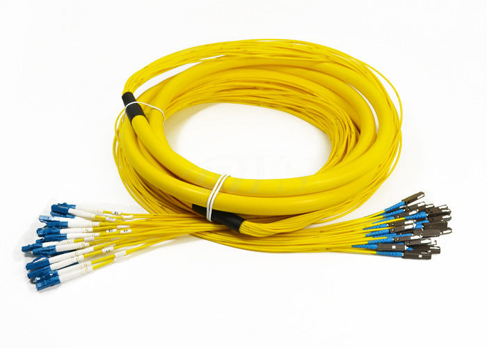 الصين 24 Core Distribution Jumper Optical Fiber Patch Cord , Fiber Optic Patch Cords المزود