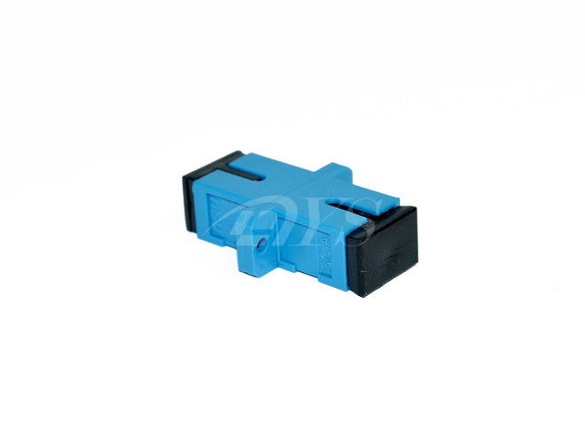 SC blue Singlemode Simplex Fiber Optic Adapter For Fiber To the Home المزود