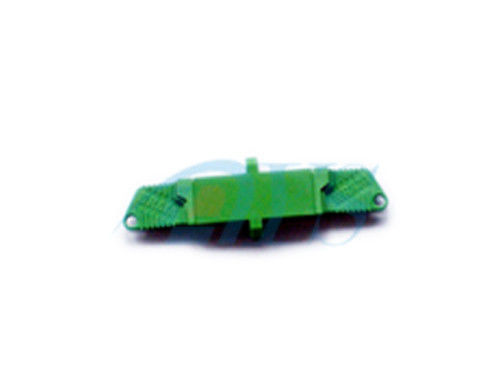 E2000 APC Fiber Channel Channel Adapter In Green , Insertion Loss 0.2dB / 0.3db المزود