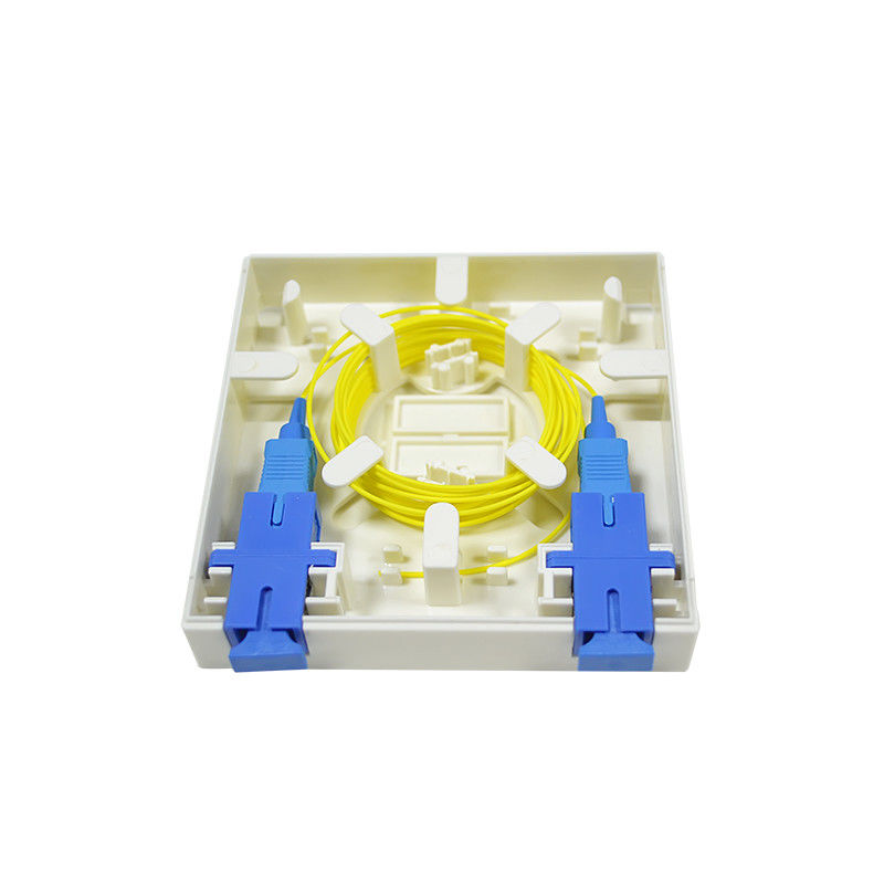 الصين High Quality Fiber Optic 2 core FTTH mini fiber optic terminal box المزود