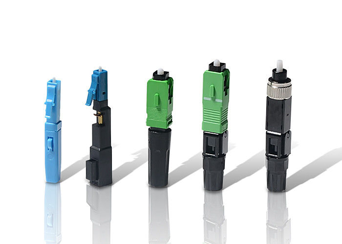 الصين SC / APC Fast Optical Fiber Connectors , Stable Capability and High Reliability المزود