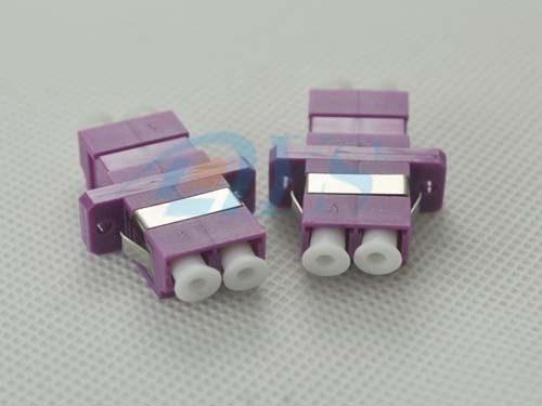 LC Duplex Fiber Optic Adapter Violet Color For Optical Networks المزود