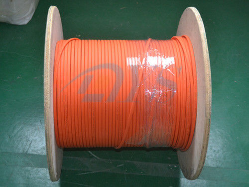 الصين Indoor 62.5 / 125um Fiber Optic Patch Cord , Orange Duplex Flat Fiber Optic Cable المزود